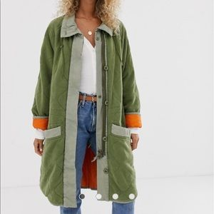 Free People Puffed Out quilted dolman jacket
